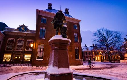 Stadhuis in de winter